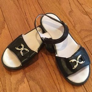 Naturino Girls Black Sandals. Size 29 (US 12).